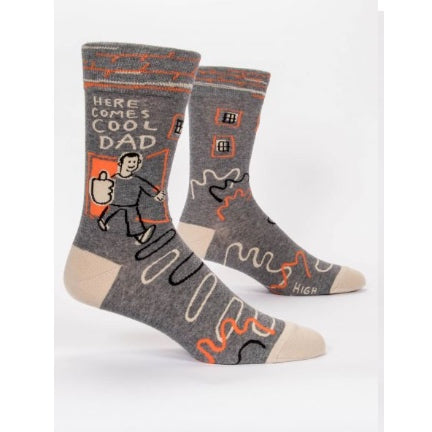 Here comes Cool dad mens socks