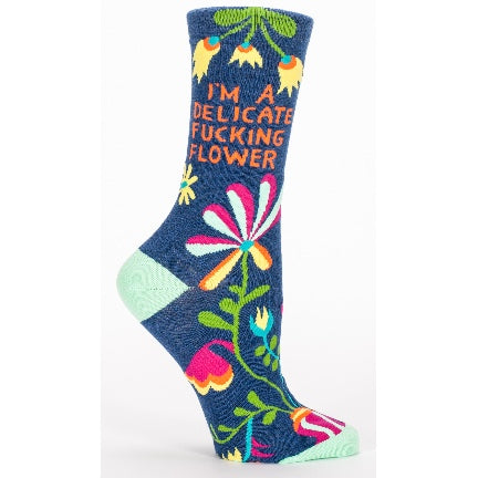 Delicate fucking flower socks