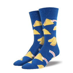 Fortune cookie lucky mens socks