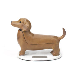 Dachsund solar powered figure