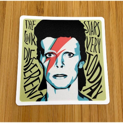 David Bowie Vinyl Sticker