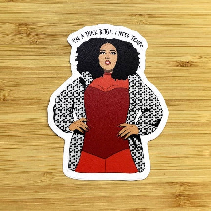 Lizzo, I'm A Thick Bitch  Sticker