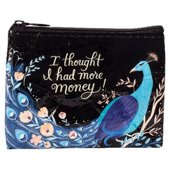 I thought i had more money coin purse with Peacock
