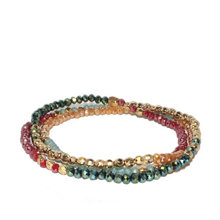 Multi Color Crystal Wrap Stretch Bracelets