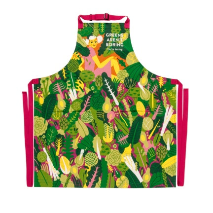Greens Arent Boring , You're Boring Apron
