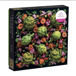 Artichoke and floral bright puzzle box