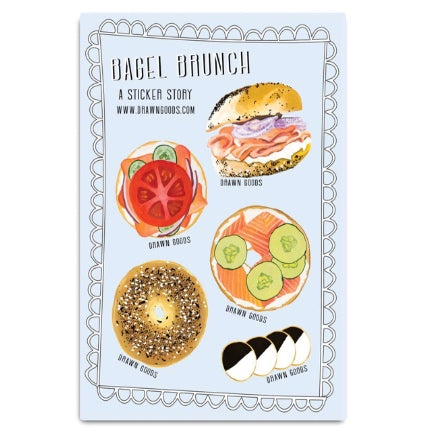 Bagel Brunch Sticker Set