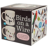 Birds on a wire heat changing mug boxed