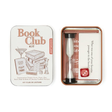 Book club kit in a tin by kikkerland