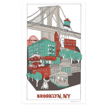 brooklyn  bold dish towel