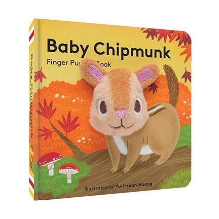 chipmunk finger puppet board book