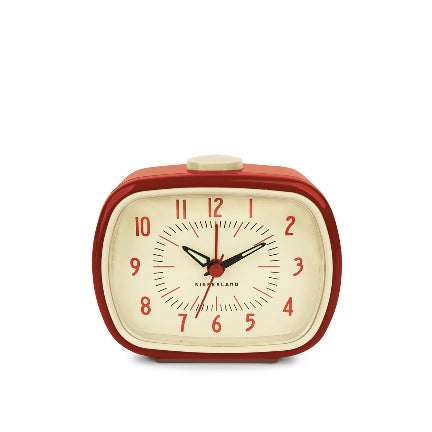 Retro Style Alarm Clock-Red