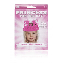 Princess for the day pink inflatable crown