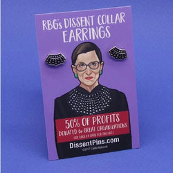 RBG's Dissent Collar Earrings by Dissent pins
