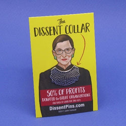Dissent Collar enamel pin in honor of Ruth Bader Ginsburg