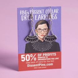 Ruth Bader Ginsburg's Dissent Collar Drop Earrings by Dissentpins