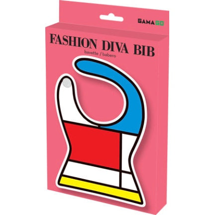 Fashion Diva color block print in pink box by gamago