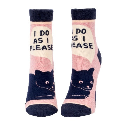 I Do As I Please Ankle Socks