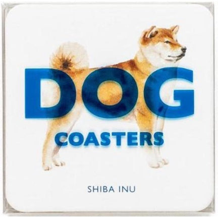 Set of 15 diff . breed dog coasters in clear box
