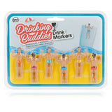 Drinking buddy drink markers , mens in swimsuits