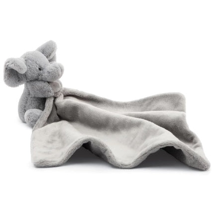 Grey Elephant soother  blanket plush by jellycat
