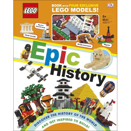 Lego epic history book with 4 exclusive  lego models
