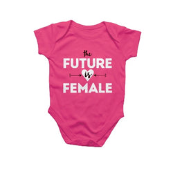 the future is female onesie by rockpaperscissors