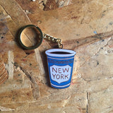 NY Coffee Cup Key Ring