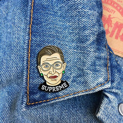 Ruth Bader Ginsburg  Enamel pin by The Found