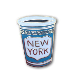 NY coffee cup enamel pin