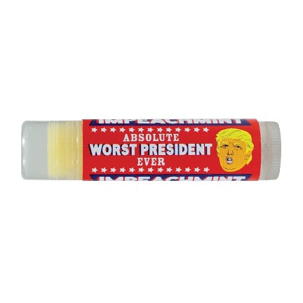 impeachment lip balm with pic of trump
