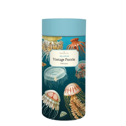Jellyfish vintage puzzle in tube by Cavellini