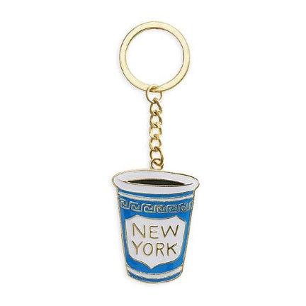 New York coffee cup keychain
