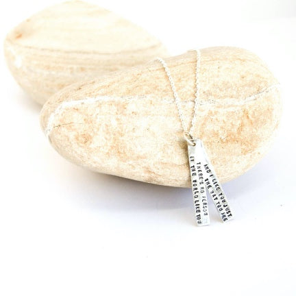 Mister Rogers quote silver necklace