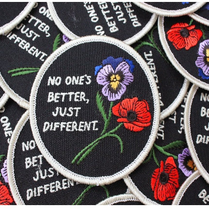 No One's Better, Just Different. Patch