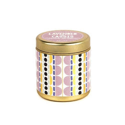 Lavendar and Cassis candle in a gold tin 3 oz