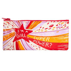 Girl power pencil pouch