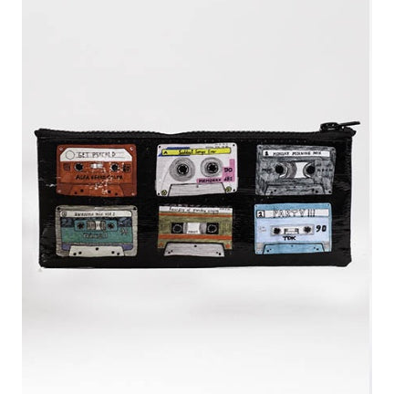 Mixed tape pencil pouch