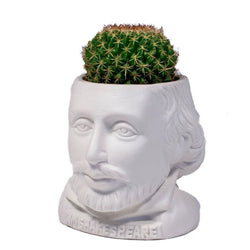 William Shapespeare ceramic planter