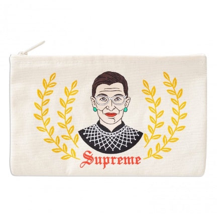 RBG supreme zippered pouch by the found