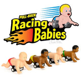 racing babies assorted colors  pullback toy