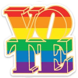 Rainbow vote sticker
