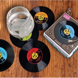 Record coasters set of 4