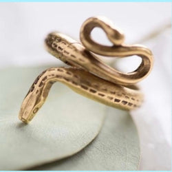 Serpent adjustable ring by Amano  Studio