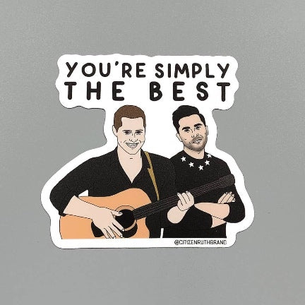 You're Simply The Best Sticker