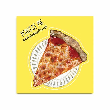 Pizza slice on paper plate sticker