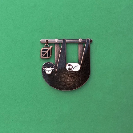 Sloth & baby pin by Amar & Riley