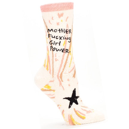 Mother fucking girl power socks by Blue Q