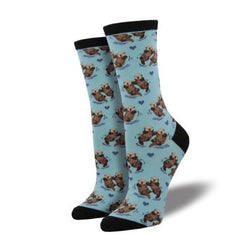 significan Otter socks in lt blue
