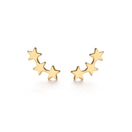 star cluster gold plated earrings